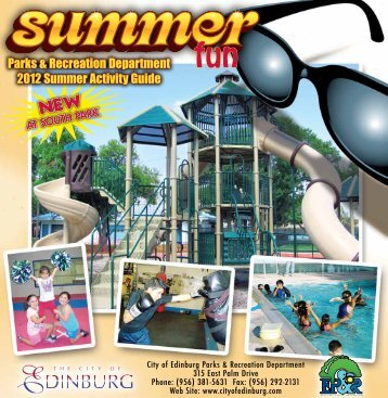 Parks & Recreation Department 2012 Summer ... - City of Edinburg