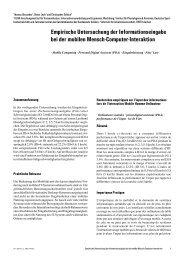 Empirische Untersuchung der Informationseingabe bei der mobilen ...