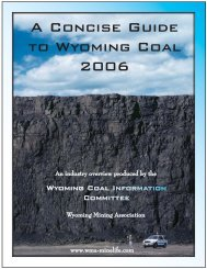 A Concise Guide to Wyoming Coal 2006