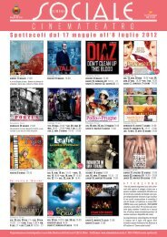 Spettacoli dal 17 maggio all'8 luglio 2012 - La Cineteca del Friuli