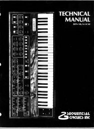 Sequential Circuits Prophet-5 Service Manual - Audiofanzine