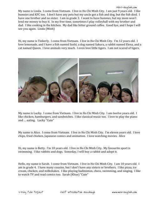 9 students Vietnam - MES English