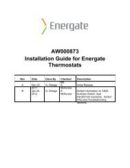 AW000873 Installation Guide for Energate Thermostats