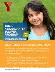 Scarborough Region Flyer - YMCA of Greater Toronto