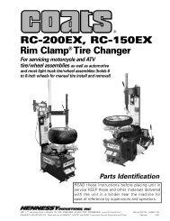 RC-200EX, RC-150EX Rim Clamp® Tire Changer - aesco