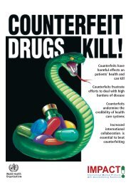 Impact Brochure on Counterfeit Medicines - World Health Organization