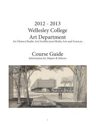 2012-2013 Course Catalog - Wellesley College