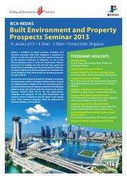 Built Environment and Property Prospects Seminar 2013 - Redas.com