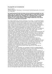 De geografie van de kredietcrisis - Universiteit van Amsterdam