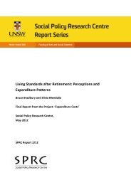 Perceptions and Expenditure Patterns - Social Policy Research ...