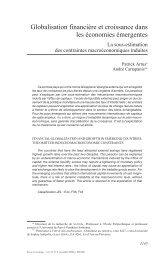 Globalisation financière et croissance dans les ... - Sciences Po Aix