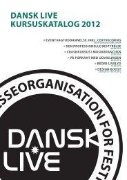 DANSK LIVE KURSUSKATALOG 2012