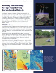 Detecting and Monitoring Geologic Hazards Using Remote Sensing ...
