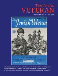 Number 4, Season: Fall - Jewish War Veterans of the United States