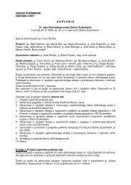 Zapisnik 21. seje občinskega sveta - Občina Žužemberk