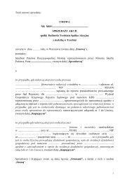 umowa - Rafineria Trzebinia S.A. z siedzibą w Trzebini