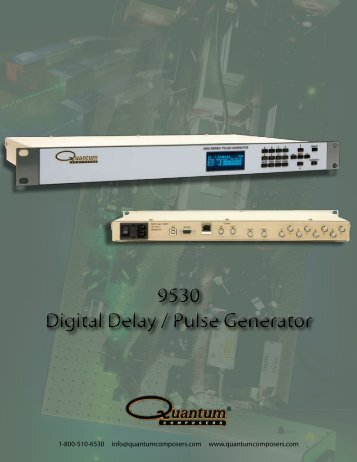 9530 Digital Delay / Pulse Generator 9530 Digital ... - Qbiclaser.com