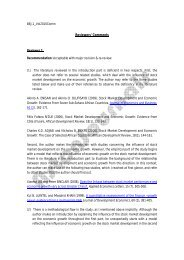 Reviewers' Comments - AstonJournals