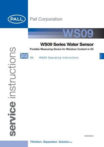 WS09 Series Water Sensor - Pall Corporation