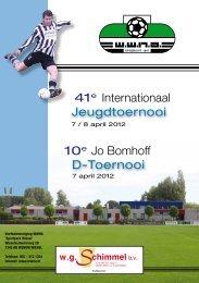 D-Toernooi Jo Bomhoff 10e Jeugdtoernooi Internationaal 41e