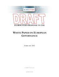 eurocities response to the white paper on european governance