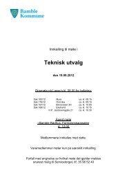 Innkalling og sakskart - Teknisk utvalg den 19.9 ... - Bamble kommune