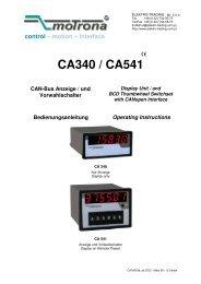 CA340 / CA541 - Elektro-Trading sp. z oo