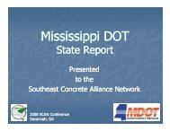 Mississippi State Report - American Concrete Pavement Association