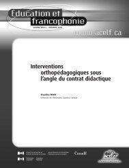 Interventions orthopédagogiques sous l'angle du contrat ... - acelf
