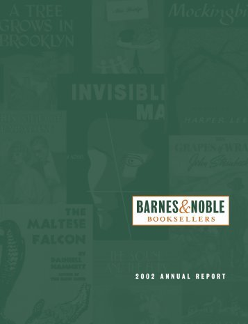 2002 ANNUAL REPORT - Barnes & Noble, Inc.