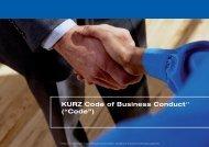 "KURZ Code of Business Conduct(1 (""Code"") - PolyIC"
