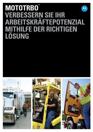 MOTOTRBO Solution Brochure (DE) - Motorola Solutions