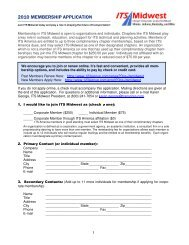 ITS Midwest: 2010 Membership Application
