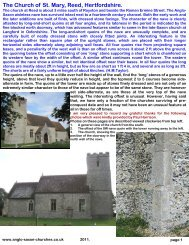 The Church of St. Mary, Reed, Hertfordshire. - Anglo-Saxon churches