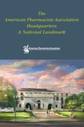 APhA Headquarters Tour Booklet - American Pharmacists Association