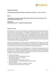 07-WS 4 Abstract Referat Implenia.pdf - 2. Internationale Tagung ...