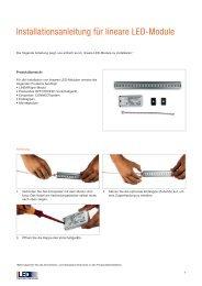 Installationsanleitung für lineare LED-Module - Osram