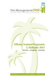 SeminarProgramm 2_HJ 2013 - Management Oase