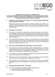 Preisblatt zur Stromgvv - Eneregio