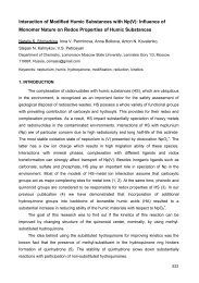 Interaction of Modified Humic Substances with Np(V ... - Humus.ru