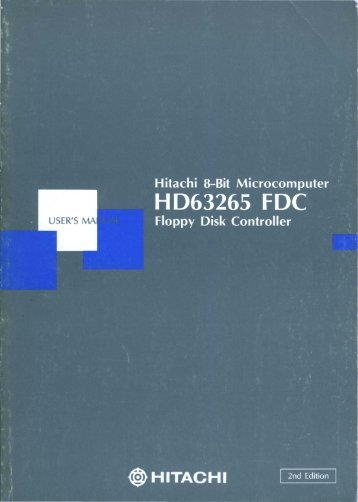 HD63265 Floppy Disk Controller Users Manual 2ed Mar89 - Bitsavers