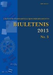 Biuletenis 2013-03 AS - LST - Standartizacijos departamentas prie AM