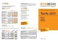 Ergänzendes Preisblatt für Verrechnungsentgelte - Eneregio
