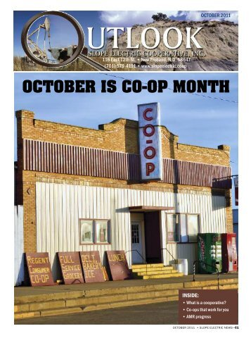 OCTOBER IS CO-OP MONTH - Slope Electric Cooperative