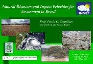 Natural Disasters and Impact Priorities for Assessment in Brazil
