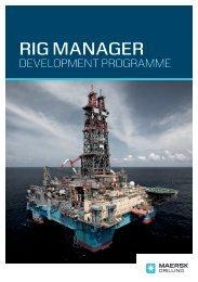 Rig Manager Development Programme (PDF) - Maersk Drilling
