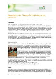 Newsletter ClieniaAGdezember2009 - Murg Stiftung