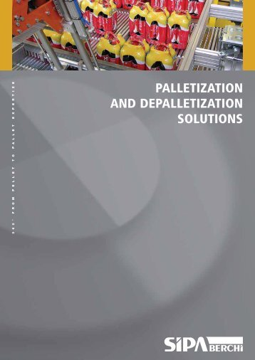 PALLETIZATION AND DEPALLETIZATION SOLUTIONS - Sipa
