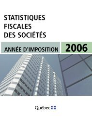 Statistiques fiscales des sociétés - Finances - Gouvernement du ...