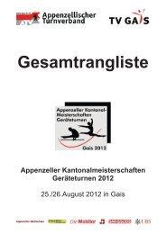 Appenzeller Gerätemeisterschaften Gais - Getu Gossau